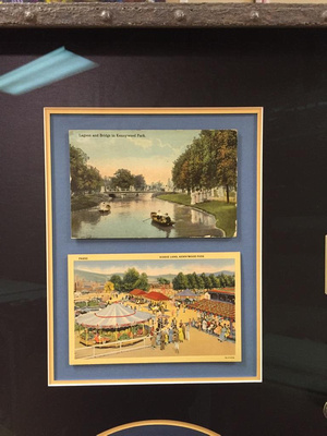These vintage postcards fit perfectly with the history theme of this shadowbox
